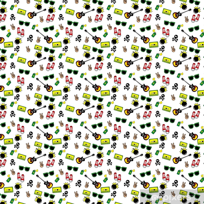 Cute Kids Pattern For Girls And Boys Colorful Youth Objects On The Abstract Grunge Background Create A Fun Cartoon Drawing The Background Is Made In Neon Colors Urban Backdrop For Textile And Fabric