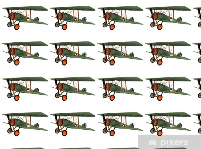 Papier peint vinyle sur mesure Biplan bande dessinée 2 - Dans les airs