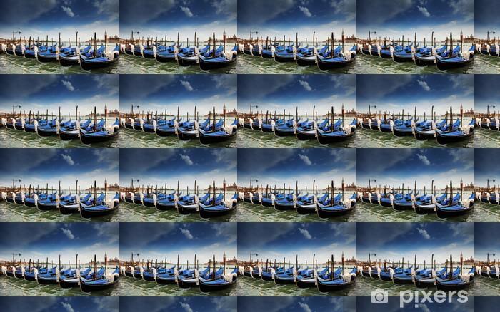 Papier peint vinyle sur mesure Venezia, Gondole, Vert - Vacances
