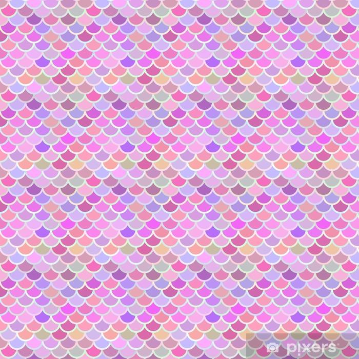 Vinyl behang, op maat gemaakt Roze vis squama - Grafische Bronnen