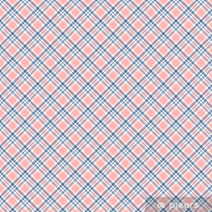 Checkered Fabric Texture Print In Dark Navy Blue White And