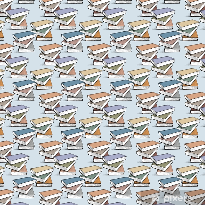 pattern of the textbooks stacks Vinyl custom-made wallpaper - Hobbies and Leisure