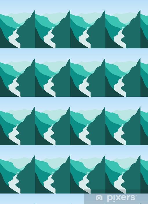 Papier peint vinyle sur mesure Montagne et rivière - Montagne