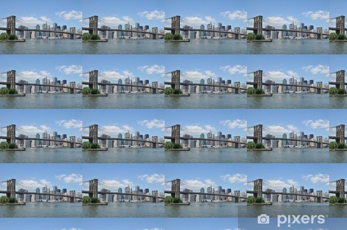 Tapeta na wymiar winylowa Brooklyn Bridge i Lower Manhattan - Tematy