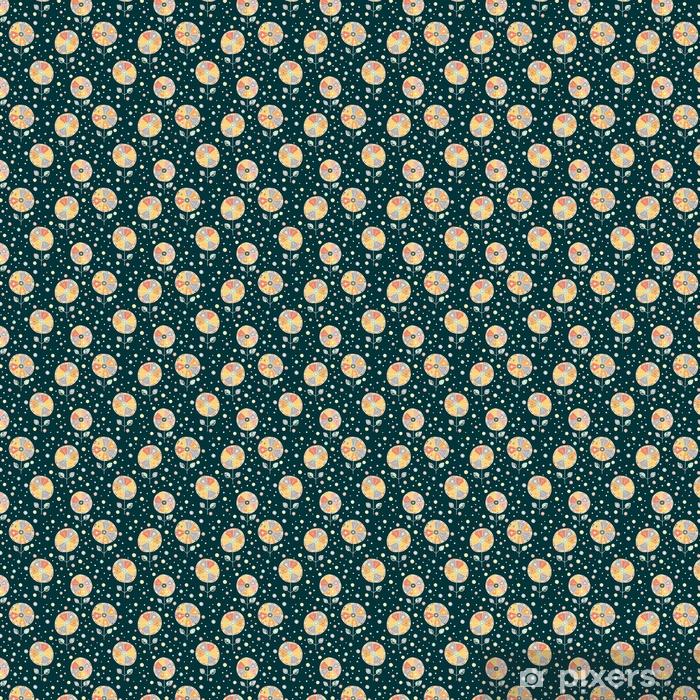 Papier peint vinyle sur mesure Vecteur floral dessiné à la main doodle motif floral enfantin. fond avec des fleurs enfantines, feuilles. illustration de dessin au trait graphique décoratif mignon. impression pour l'emballage, fond, tissu, décor - Ressources graphiques