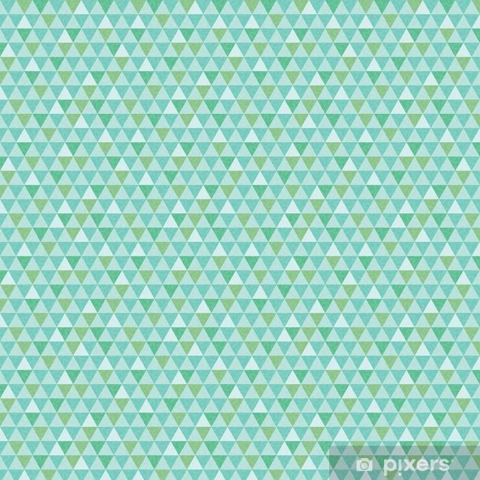 Carta da parati in vinile su misura Vettore blu e verde triangolo e foglie texture seamless ripetere sfondo del modello. perfetto per tessuti moderni, carta da parati, involucri, articoli di cancelleria, progetti di decorazioni per la casa. - Risorse Grafiche