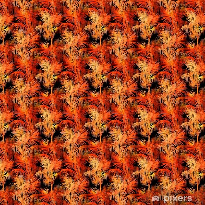 Tapeta na wymiar winylowa Tropikalny wzór akwarela - Rośliny i kwiaty