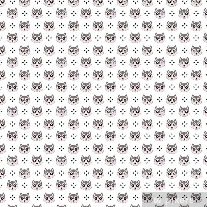 Papier peint vinyle sur mesure Modèle mignon d'enfants pour les filles et les garçons. loup coloré sur l'abstrait créer un dessin animé amusant. le fond est fait dans des couleurs pastel. toile de fond urbaine pour le textile et le tissu. - Ressources graphiques
