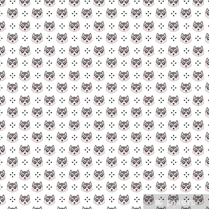 Cute Kids Pattern For Girls And Boys Colorful Wolf On The Abstract Background Create A Fun Cartoon Drawing The Background Is Made In Pastel Colors Urban Backdrop For Textile And Fabric Wallpaper