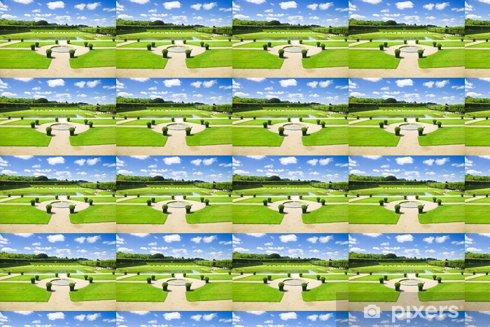 Amazing gardens from Villandry chateau, France Vinyl custom-made wallpaper - Home and Garden