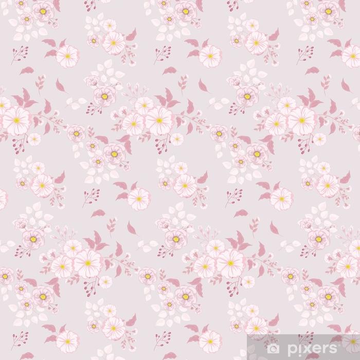 Genoeg Behang Naadloze bloemmotief. achtergrond in kleine roze bloemen op #SD61