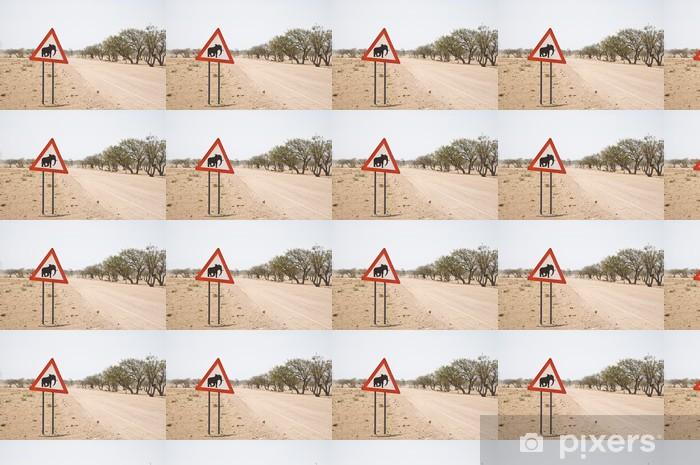 Papel pintado estándar a medida Precaución: Los Elefantes - África