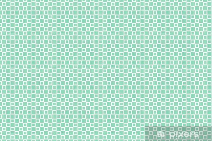 Vinyl behang, op maat gemaakt Aquarel vierkant patroon. - Grafische Bronnen