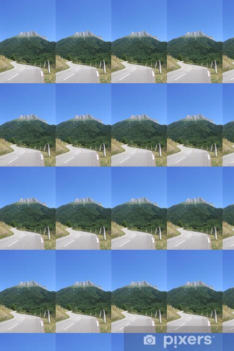 Papier peint vinyle sur mesure Route de montagne - Infrastructures