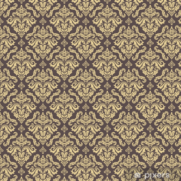 Måttanpassad vinyltapet Klassisk sömlös vektor gyllene mönster. traditionell orientalisk prydnad. klassisk vintage bakgrund - Grafiska resurser