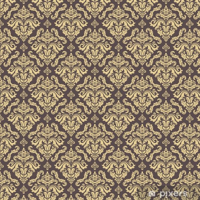 Klassinen saumaton vektori kultainen kuvio. perinteinen oranssi ornamentti. klassinen vintage tausta Räätälöity vinyylitapetti - Graafiset Resurssit