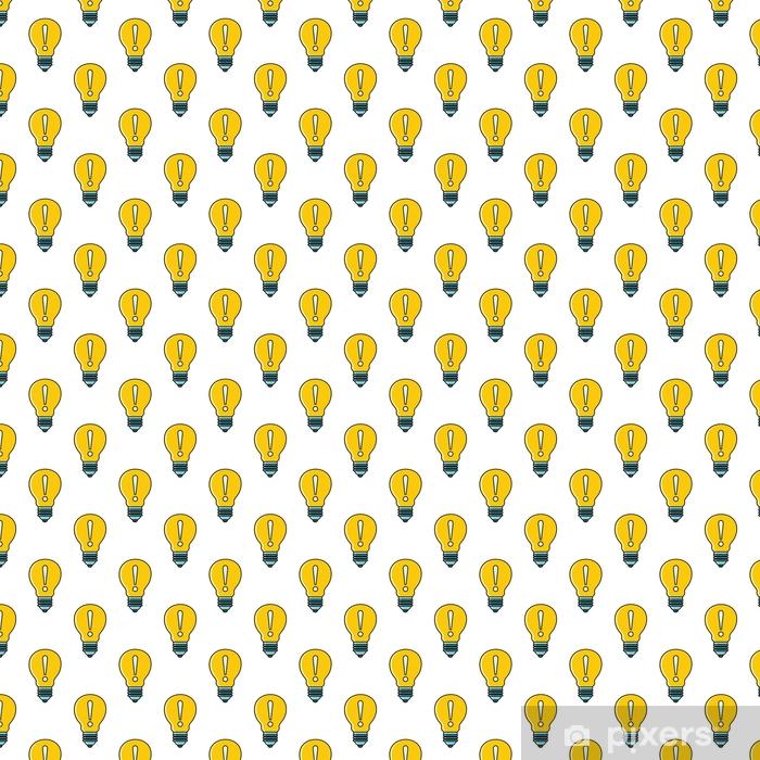 Papel pintado estándar a medida Idea lámpara de patrones sin fisuras en estilo de dibujos animados aislado en la ilustración de vector de fondo blanco - Negocios