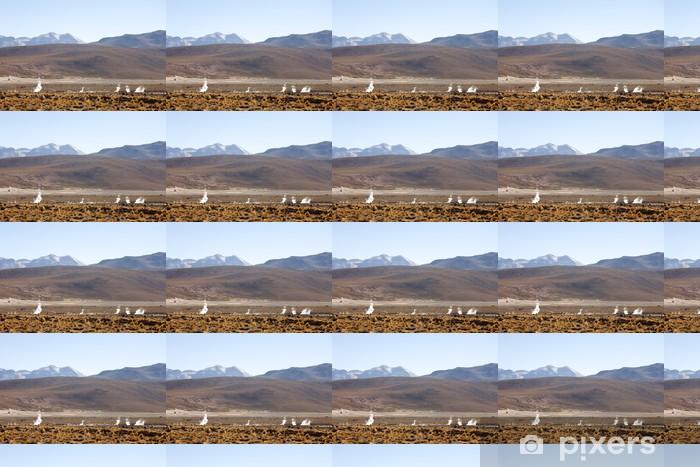 Papier peint vinyle sur mesure Geysers del Tatio sur Andes, Chili - Amérique