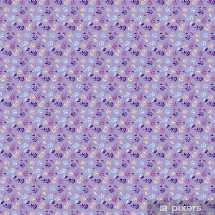 Vinyl behang, op maat gemaakt Naadloos patroon voor oppervlakteontwerp, stof, verpakkend document, achtergrond. abstracte geometrie stijl vector herfst illustratie. natuurlijk blad eenvoudig herhaalbaar motief - Bloemen en Planten