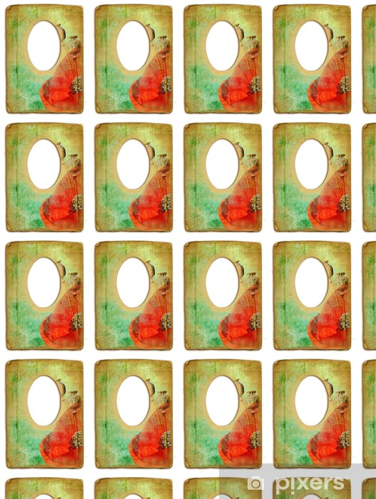 Tapeta na wymiar winylowa Archiwalne karty z kwiatów maku - Tekstury