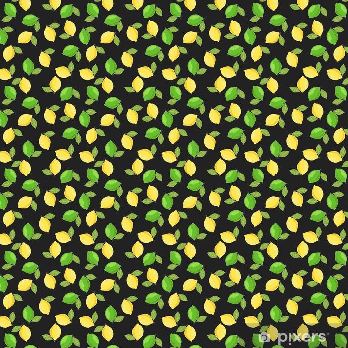 Tapeta Citrony A Limety Rucne Kreslene Letni Citrus Bezesve Vzor A