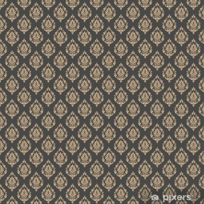 Vector damask seamless pattern background. Classical luxury old fashioned damask ornament, royal victorian seamless texture for wallpapers, textile, wrapping. Exquisite floral baroque template Vinyl custom-made wallpaper - Graphic Resources