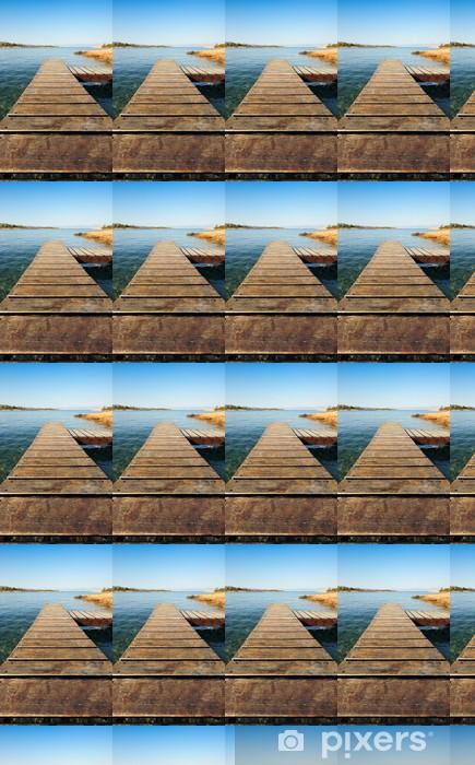 Papier peint vinyle sur mesure Jetée en bois en Grèce s'étendant dans la mer - Thèmes