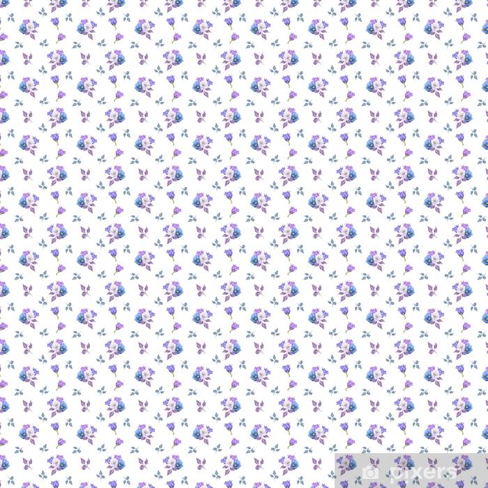 Vinyl behang, op maat gemaakt Naadloze bloemmotief met boeketten van bloemen. vector hand getrokken achtergrond voor textiel, print, achtergronden, onmiddellijke verpakking. - Grafische Bronnen
