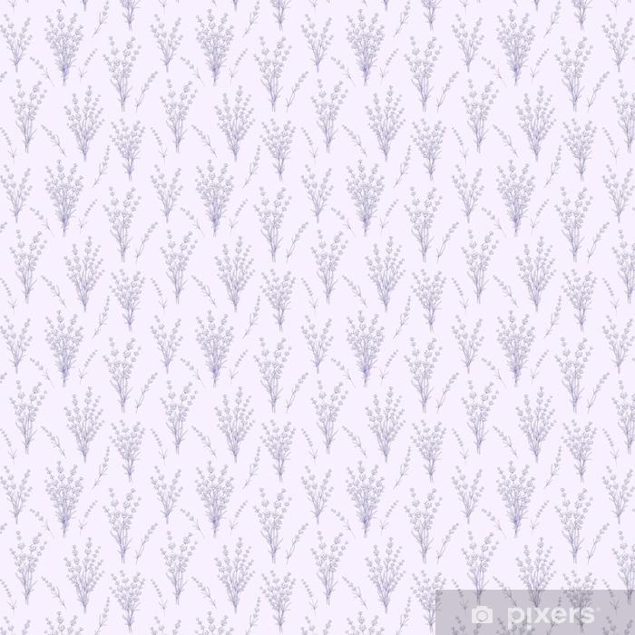 Papier peint vinyle sur mesure Modèle sans couture de fleurs de lavande sur un fond gris. modèle aquarelle avec de la lavande pour l'échantillon de tissu. illustration vectorielle - Plantes et fleurs