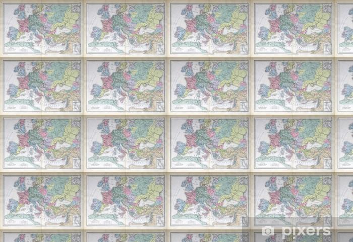 Papier peint vinyle sur mesure Vieux carte de 1883, l'Europe - Thèmes