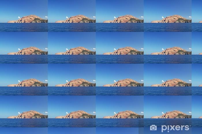 Vinylová tapeta na míru Orabge útes ostrova Korsika, Francie - Hory
