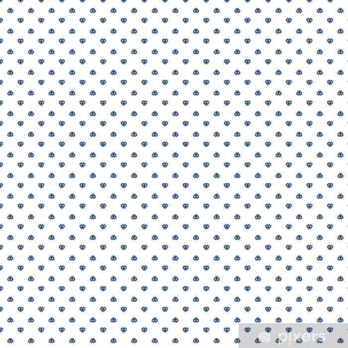 Vinyl behang, op maat gemaakt Vectorillustratie naadloze patroon met silhouetten van diamanten gericht op en neer op witte achtergrond - Grafische Bronnen