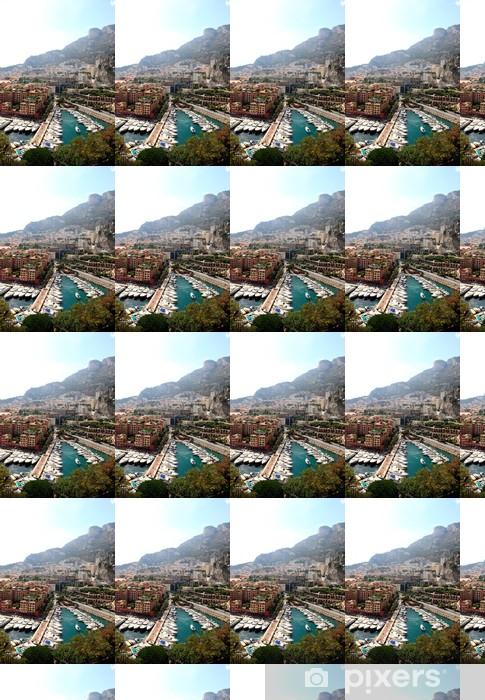 Papier peint vinyle sur mesure Vue aérienne des appartements de grande hauteur et de la marina à Monaco - Europe