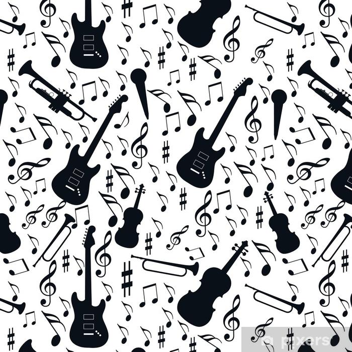 Vinylová Tapeta Bezešvé vzorové hudby - Koníčky a volný čas