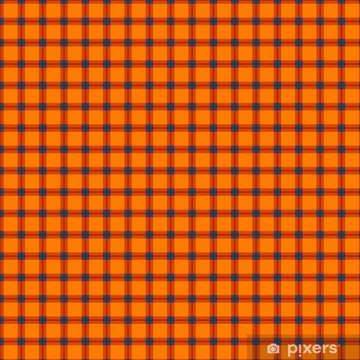 Vinyl behang, op maat gemaakt Oranjerode blauwe tartan naadloze achtergrond. - Grafische Bronnen