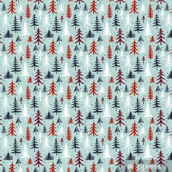 wallpapers seamless pattern with christmas tree winter forest vector background.jpg