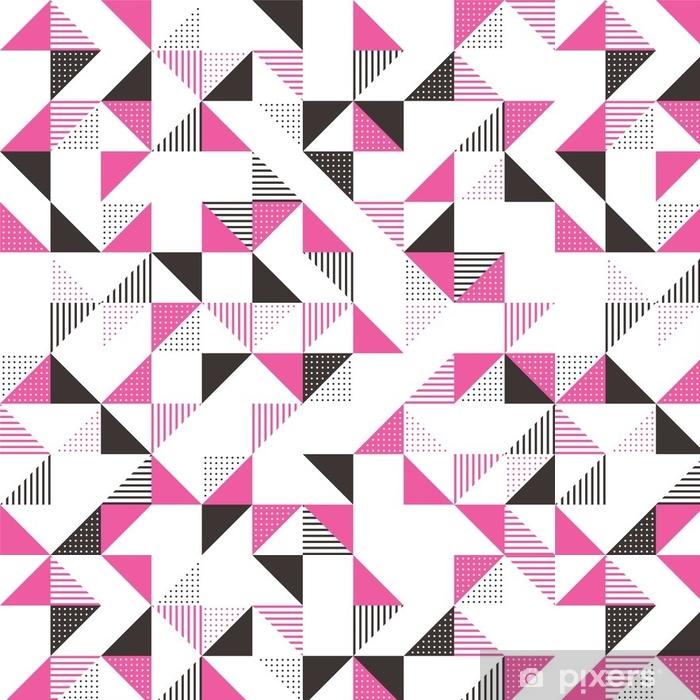Papier Peint A Motifs Un Fond Geometrique Rose Et Gris Pixers