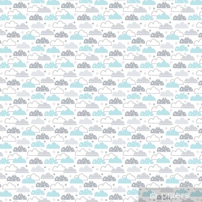Bezszwowe chmury wzór ilustracji wektorowych