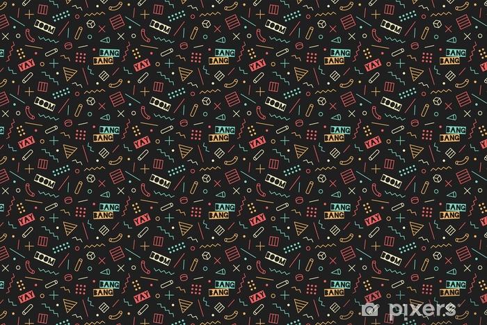 Behang Met Patroon : Behang naadloze grafische memphis patroon 80s 90s trendy stijlen op