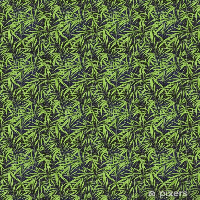 Somlos Monster Med Bambus Blade Og Grene I Japansk Sty Tapet