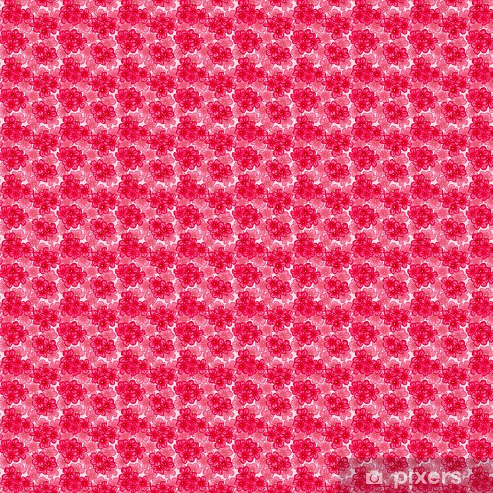 Beautiful seamless pattern with pink flowers daisy. design forgreeting cards and invitations of wedding, birthday, Valentine's Day, mother's day and other seasonal holiday Self-adhesive custom-made wallpaper - Plants and Flowers
