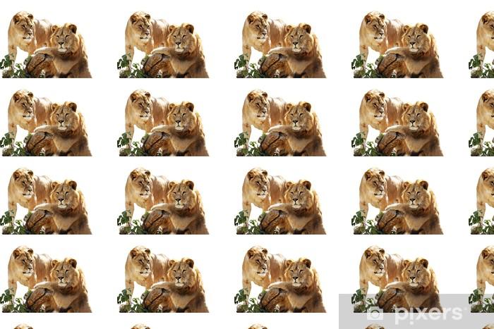 Papier peint vinyle sur mesure Lion portrait de famille - Vie de famille