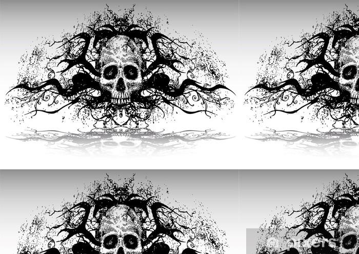 Vinylová Tapeta Vektorové ilustrace tetování design set (lebka) - Značky a symboly
