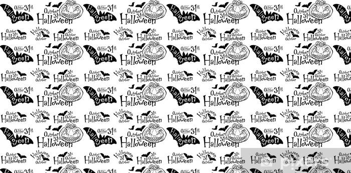 Tapeta na wymiar winylowa List-głowa Halloween dynia Jack-o-lantern - Słodycze i desery