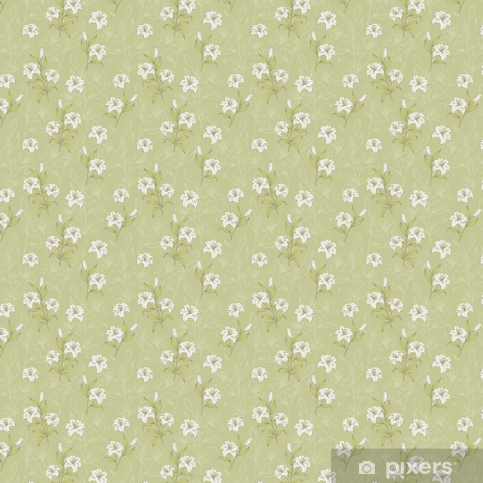 Lily flower graphic color seamless pattern sketch illustration vector Vinyl custom-made wallpaper - Graphic Resources