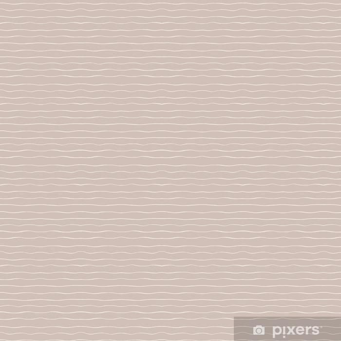 Vinyl behang, op maat gemaakt Vector golvende horizontale lijnen naadloze patroon op de bruine achtergrond. abstract ontwerp. - Grafische Bronnen