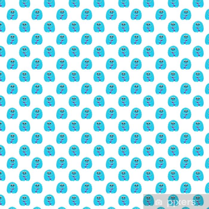 Tapeta na wymiar winylowa Abstrakcyjny wzór dla dziewcząt lub chłopców. twórczy tło wektor z puszysty słodki potwór, halloween. śmieszne tapety dla przemysłu tekstylnego i fabric.fashion.colorful jasny obraz dla dzieci - Zasoby graficzne