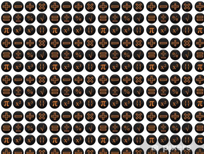Vinylová tapeta na míru Matematická související černá sadu ikon individuálně vrstvené - Aplikované a přírodní vědy
