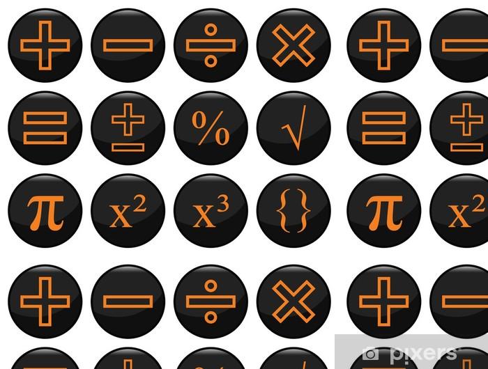 Vinylová Tapeta Matematická související černá sadu ikon individuálně vrstvené - Aplikované a přírodní vědy