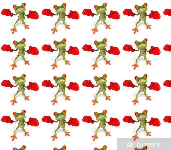 Vinylová tapeta na míru Frog Boxing - Značky a symboly